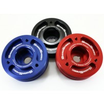 Grimmspeed Lightweight Crank Pulley Red - Subaru All EJ Engines